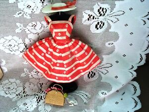 #956 BARBIE DOLL BUSY MORNING SUN DRESS,HAT,PURSE,HEELS,PHONE