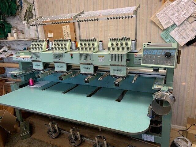 Tajima Commercial 4 Head 9 Needle Embroidery Machine