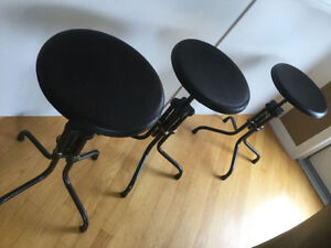 Excellent Condition Industrial Stools  Very Restoration Hardware