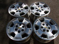 """4-17"""" 6 STUDx5.5(139.7) GM TRUCK ALLOY RIMS, CENTERS INCLUDED In"""