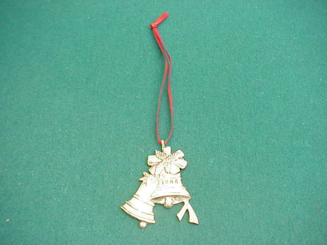 Hand & Hammer 1988 Preowned Sterling 2 bell Ornament