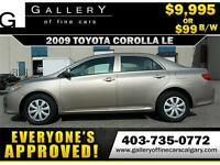 2009 Toyota Corolla LE $99 Bi-Weekly APPLY NOW DRIVE NOW