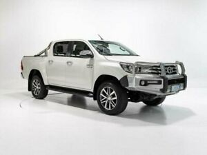 2016 Toyota Hilux GUN126R SR5 (4x4) Crystal Pearl 6 Speed Automatic Dual Cab Utility Cooee Burnie Area Preview