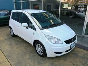 2007 Mitsubishi Colt RG MY07 ES White Continuous Variable Hatchback Hobart CBD Hobart City Preview