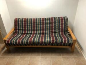 Futon With Spring Mattress And Frame