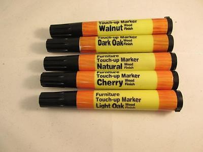 5pc Wood Furniture Touch Up Markers Scratch Repair Dark Light Oak Cherry Walnut