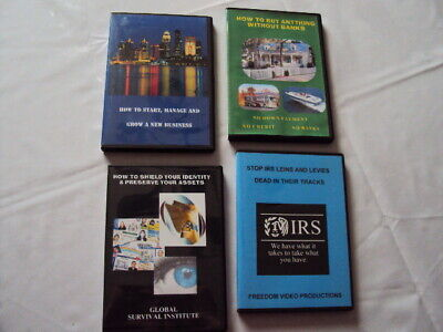 Lot Set FINANCIAL SURVIVAL DVD COLLECTION- STARTUP CAPITAL ASSETS LIENS IRS   22