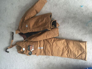 Mens Carhartt insulated coveralls and jacket