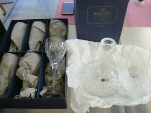Bohemia crystal glasses and decanter Parrearra Maroochydore Area Preview
