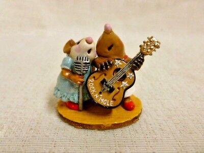 Wee Forest Folk Stand By Your Mole Special Edition MMO1 Mouse Retired