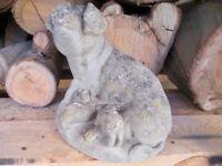 Cute little garden pig and suckling piglets stone decoration £10