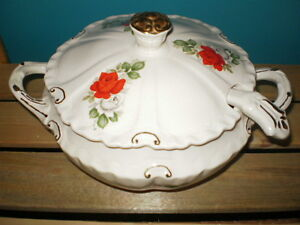 Soup Tureen with matching lid and ladle