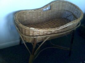 BEAUTIFUL WICKER CRIB