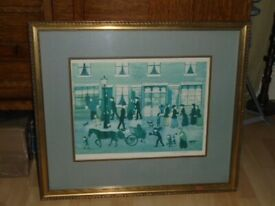 Helen Bradley Limited Edition Signed Print, Hot Pies Ready Now, Original Period Print.