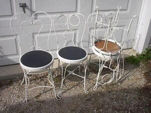 4-  metal retro 50's ice cream parlour chairs