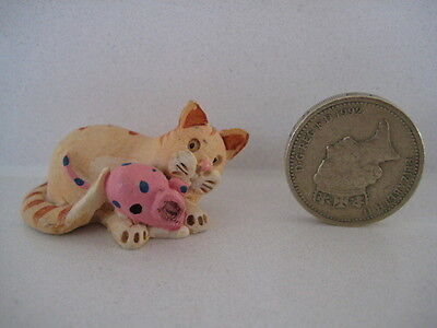 RARE ORIGINAL COLOUR BOX CAT PETER FAGAN HOME SWEET HOME HS704 CAT AND TOY MOUSE