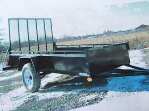New 5x10 Open mini landscaper trailers