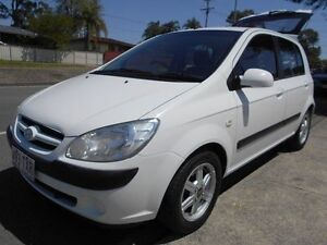 2006 Hyundai Getz TB MY06 White 5 Speed Manual Hatchback Slacks Creek Logan Area Preview
