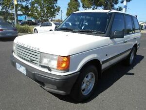 1997 Land Rover Range Rover HSE White 4 Speed Automatic Wagon Maidstone Maribyrnong Area Preview