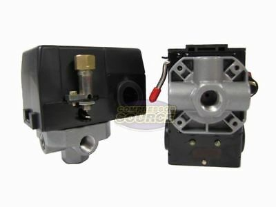 Heavy Duty 26 Amp Air Compressor Pressure Switch Control Valve 95-125 Psi 4 Port