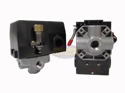 Heavy Duty 26 Amp Air Compressor Pressure Switch Control Valve 95-125 Psi 4 Port
