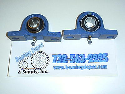 Salt Spreader Bearing Ucp205-16bt Grease Fitting On Bottom 2 Pieces