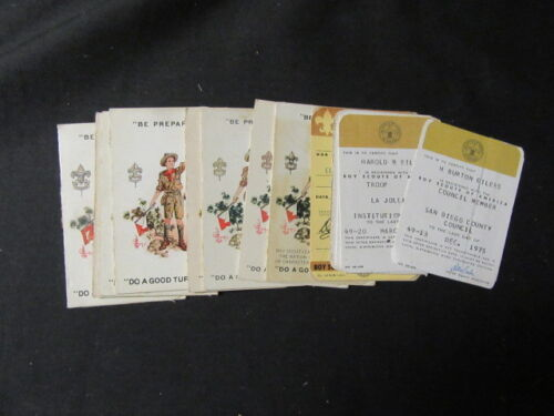 Boy Scout Registration Cards 1922 to 1928 Plus Later Cards, from 1 Scouter   eb0