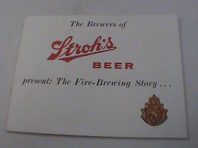 Vintage 1950s Stroh Brewery The Story Book Beer Advertising Book Color Photo NOS
