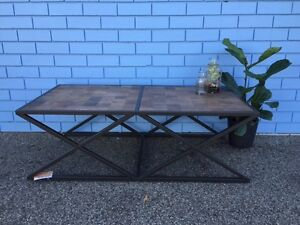 COFFEE TABLE-METAL & MANGO TIMBER-NEW-MATCHING LAMP TABLES Balcatta Stirling Area Preview