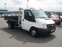 2010 10 FORD TRANSIT 2400 CC 2.4TDCI 350 MWB CHASSIS CAB DIESEL