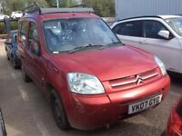 2007 CITROEN BERLINGO 1.6 HDI DIESEL MANUAL MULTISPACE FORTE MPV RED TOWBAR SPACIOUS