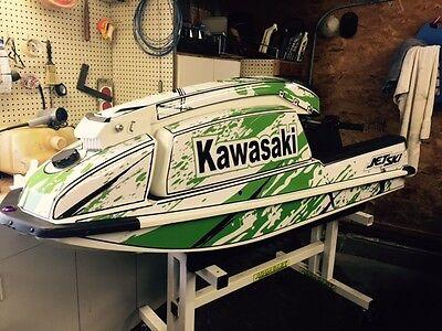 kawasaki 550 sx jet ski wrap graphics pwc stand up 7 jetski decal sticker bottom for sale  Shipping to South Africa