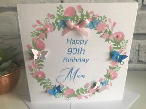 Personalised Birthday Card Grandma Mum Sister Aunty 50th 60th 70th 80th 90th