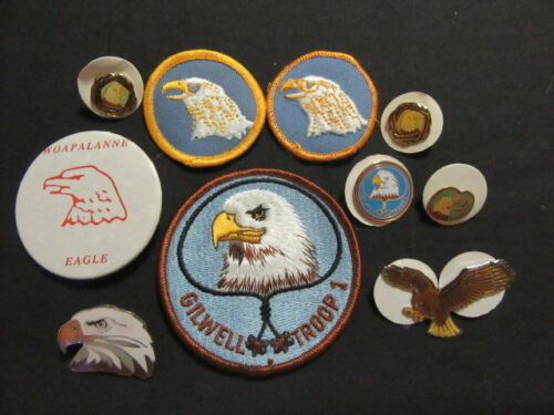 Eagle Patrol Wood Badge Patches, Lapel and Hat Pins        eb12
