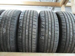 215/60R16 SET OF 4 MATCHING USED MOTOMASTER A/S TIRES