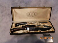 glo-hill cutlery set - never used with bone handles-craftsman