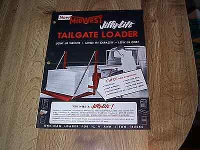 Midwest Jiffy Lift Tailgate Loader Brochure   One Man Loader For Trucks 1957
