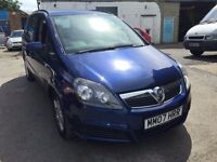 2007 Vauxhall Zafira 7 seater automatic, starts and drives very well, 1 years MOT (runs out August 2
