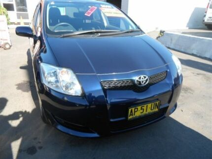 2007 Toyota Corolla ZZE122R MY06 Upgrade Ascent Seca Blue 5 Speed Manual Hatchback Clyde Parramatta Area Preview