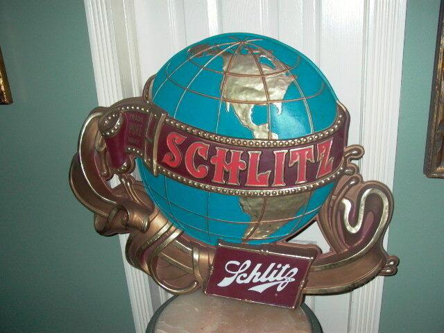 Schlitz Trade Pure Mark Globe Beer Sign