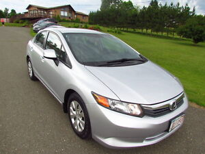 2012 Honda Civic LX: LIKE NEW! a/c! automatic! ONLY 85KMS! MINT!