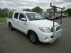 2010 Toyota Hilux GGN15R 09 Upgra SR5 White 5 Speed Automatic Dual Cab Pick-up Yagoona Bankstown Area Preview