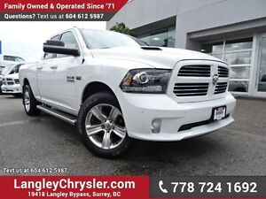 2014 RAM 1500 Sport ACCIDENT FREE w/ 4X4, LEATHER UPHOLSTERY...