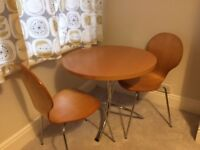 John Lewis circular table and two chairs