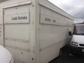Catering trailer/snack bar, tri-axle, 20ft long, detatchable hitch, hot plates ect £2195 kilmarnock