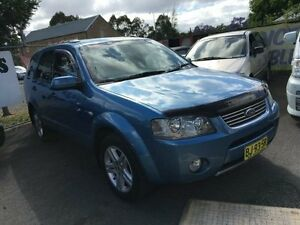 2005 Ford Territory SX Ghia (4x4) Blue 4 Speed Auto Seq Sportshift Wagon Campbelltown Campbelltown Area Preview