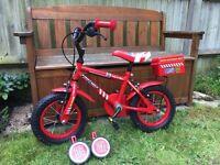 Kids bike - Apollo Firechief boys bicycle 12 inch