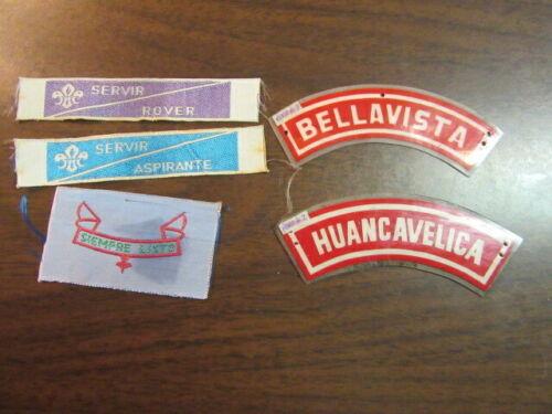 Peru Lot of 5 Boy Scout Patches   eb25