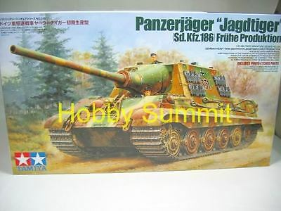 Tamiya 1/35 German JAGDTIGER Early Production w/ Photo-Etched Set 35295