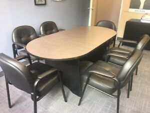 Conference table with leather chairs for sale ASAP!